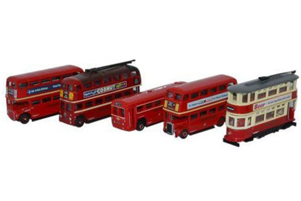OXFORD 1/148scale Five Piece Bus Set  [No.OXNSET02]