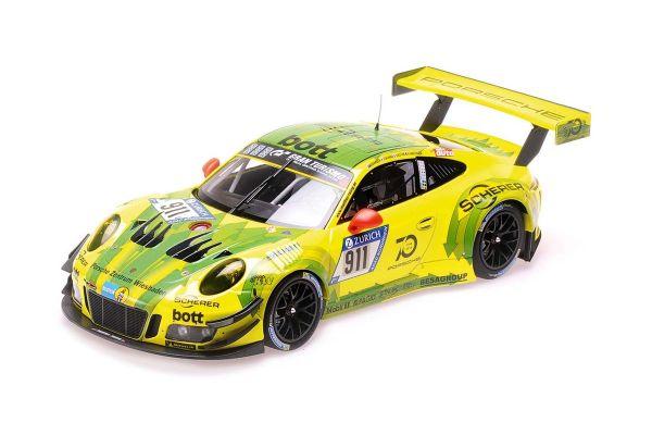 MINICHAMPS 1/18scale PORSCHE 911 GT3 R - MANTHEY RACING - ESTRE/DUMAS/VANTHOOR/BAMBER - 24H NÜRBURGRING 2018  [No.155186911]