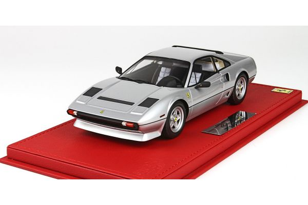 BBR 1/18scale Ferrari 208 GTB Turbo 1982 Silver   with case [No.P18103CV]