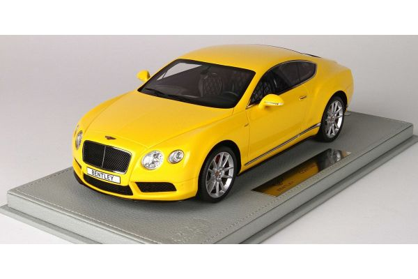 BBR 1/18scale Bentley Continental GT V8 S 2014 Monaco Yellow With Case  [No.P1886BV]