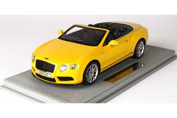 BBR 1/18scale Bentley Continental GT V8 S Convertible 2014 Monaco Yellow with Case  [No.P1887CV]