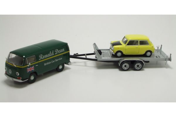 Premium ClassiXXs 1/43scale Ronald Dean  3-Car Set(VW T2-a box van/ Trailer/ Mini Cooper MKI)  [No.PCS11264]