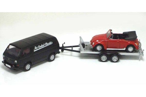 Premium ClassiXXs 1/43scale VW T3a Box Van Trailer (With Beetle Conbertible