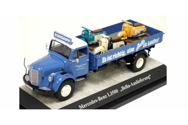 Premium ClassiXXs 1/43scale M L3500 Pick Up(With 3-Bike Zundapp Bella
