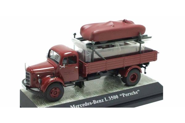 Premium ClassiXXs 1/43scale Mercedes-Benz L3500 Pickup Truck(Red) with Porsche Red [No.PCS12458]