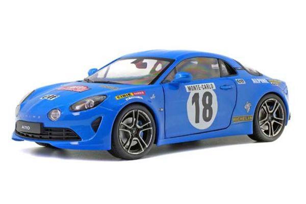 SOLIDO 1/18scale Alpine A110 Rally Monte-Carlo Historic (Blue / # 18)  [No.S1801603]