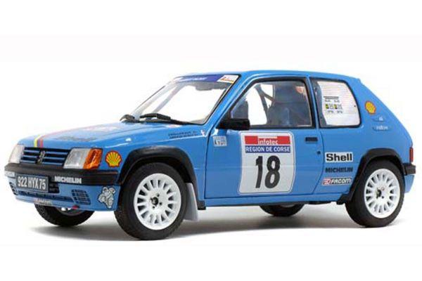 SOLIDO 1/18scale Peugeot 205 Rally PTS Tour de Corse 1990 (Blue)  [No.S1801706]
