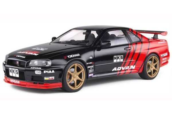 SOLIDO 1/18scale Nissan Skyline R34 GT-R (Black / Red)  [No.S1804302]