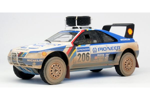 TOPMARQUES 1/18scale Peugeot 405 T16 No.206 1989 Paris Dakar 2nd (Pioneer) Weathering  [No.TMPD03DD]