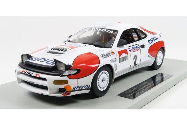 TOPMARQUES 1/18scale Toyota Celica GT-FOUR (ST185) 1992 RAC Rally Winner Sainz No.2  [No.TOP034B]