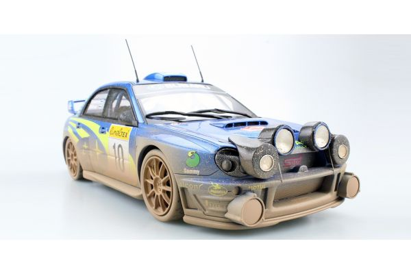 TOPMARQUES 1/18scale Subaru Impreza S7 555 WRC No.10 2002 Monte Carlo Night and dirty version  [No.TOP037CD]