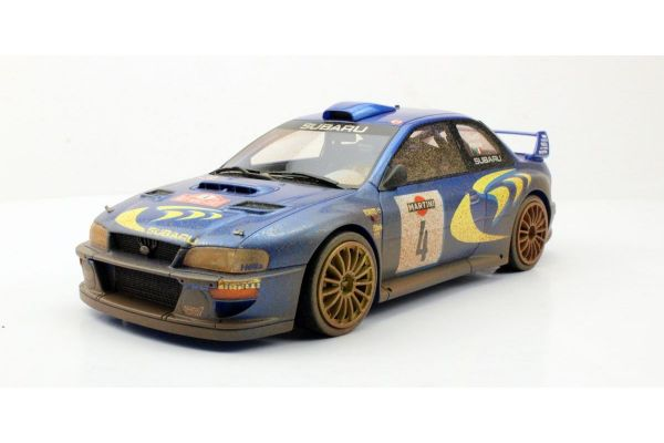 TOPMARQUES 1/18scale Subaru Impreza S4 WRC 2nd Place San Remo 1998 Dirty  [No.TOP040CD]