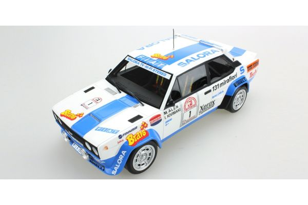 TOPMARQUES 1/18scale Fiat 131 Abarth No.1 Winner 1000 Lakes 1980  [No.TOP043E]