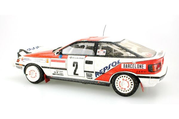 TOPMARQUES 1/18scale Toyota Celica GT-FOUR ST 165 Repsol No.2 1991 Monte Carlo Rally Winner C.Sainz Weathering Dirty paint  [No.TOP044AD]