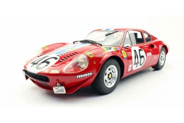 TOPMARQUES 1/12scale Ferrari Dino 246 GT 1972 #46 (Red / White Blue Stripe)  [No.TOP12-02K]