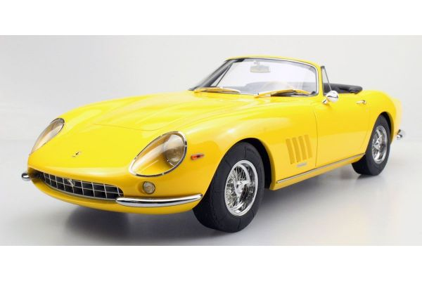 TOPMARQUES 1/12scale 275 GTB/4 NART Spyder 1967 (yellow)  [No.TOP12-04F]