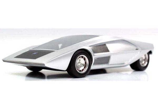 TOPMARQUES 1/43scale Lancia Stratos ZERO Concept (Silver)  [No.TOP43009B]