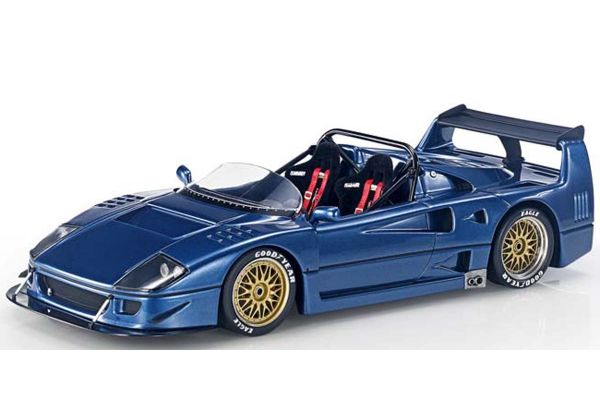 TOPMARQUES 1/43scale F40 LM Beurlys Barchetta Blue  [No.TOP43010D]