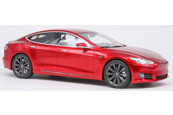 TOPMARQUES 1/18scale Tesla Model S Facelift Red  [No.TOPLS028D]