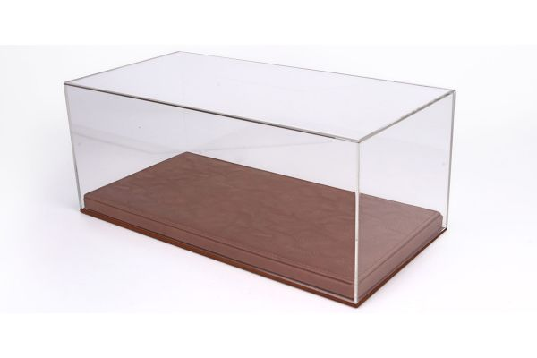BBR 1/18scale Display Case + Leather base  Kuoio Brown   [No.VET1804C1]