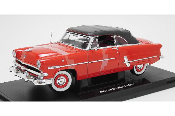 WELLY 1/18scale Ford Crestline Sunliner (1953) RED [No.WE12525HR]