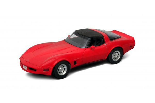 WELLY 1/18scale Chevrolet Corvette Coupe 1982 RED [No.WE12546R]