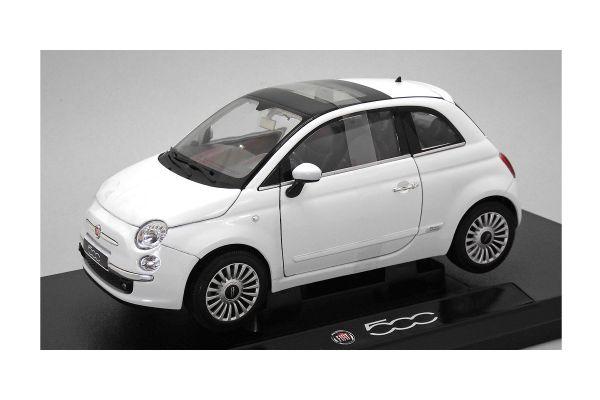 WELLY 1/18scale Fiat 500 2007 White  [No.WE18012W]