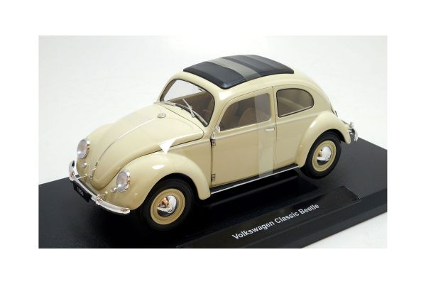 WELLY 1/18scale Volkswagen Classic Beetle Cream [No.WE18040CR]