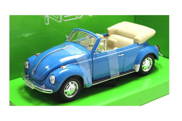 WELLY 1/24scale VW Beetle Convertible Blue [No.WE22091LB]