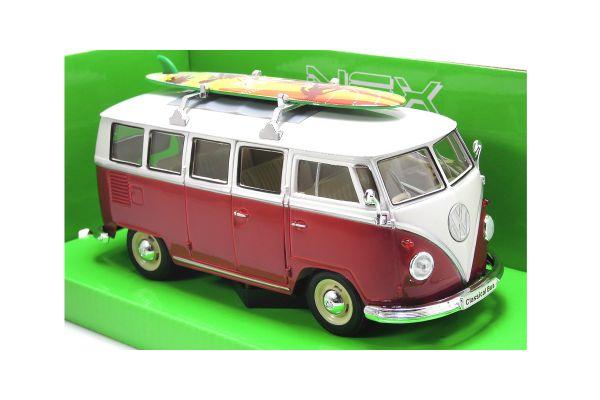 WELLY 1/24scale Volkswagen T1 Bus 1962 RED [No.WE22095SR]