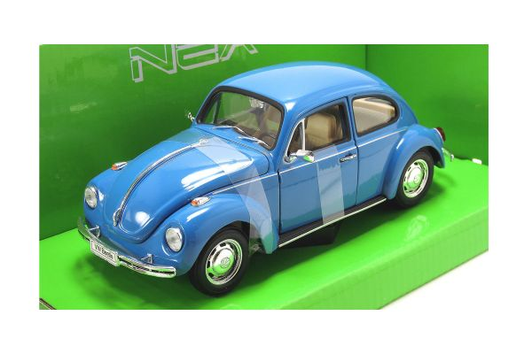 WELLY 1/24scale VW Beetle hardtop (Blue / ribbon tire)  [No.WE22436BL]