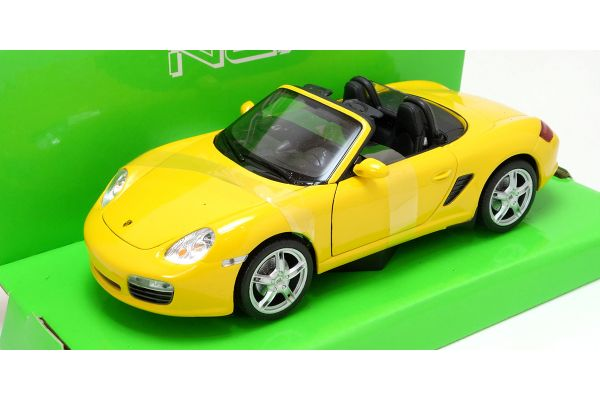 WELLY 1/24scale Porsche Boxster S convertible Yellow  [No.WE22479CY]