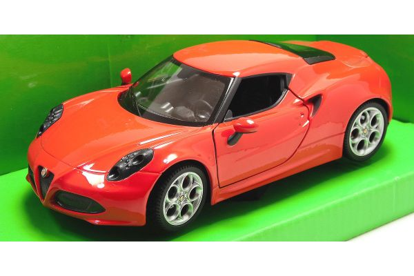 WELLY 1/24scale Alfa Romeo spider soft-top Red [No.WE22484HR]