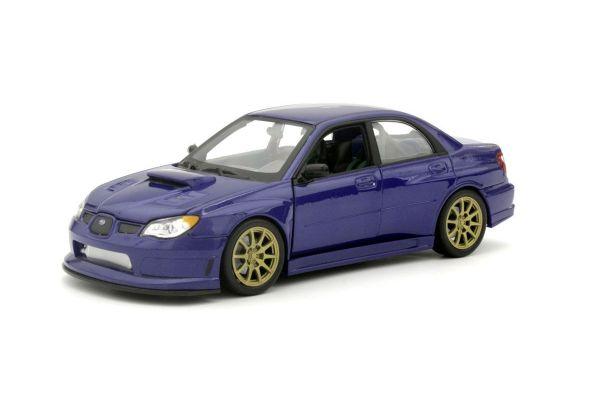 WELLY 1/24scale Subaru Impreza WRX STI (Blue) without spoiler / gold foil  [No.WE22487BNS]