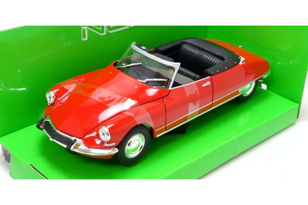 WELLY 1/24scale Citroen DS 19 Cabriolet Metallic Red [No.WE22506MR]