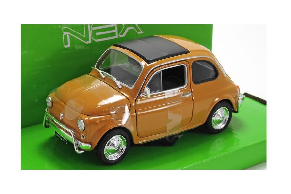 WELLY 1/24scale Fiat NUOVA 500 1957 Yellow [No.WE22515Y]