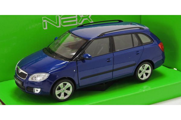 WELLY 1/24scale 2009 SKODA FABIA COMBI II (Blue)  [No.WE22519BL]