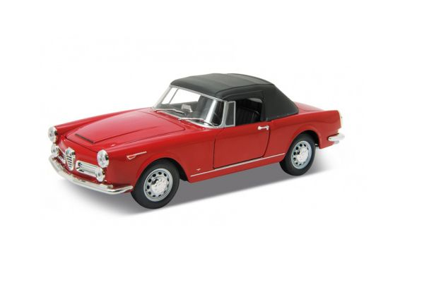 WELLY 1/24scale Alfa Romeo Spider 2600 soft-top 1960 Red  [No.WE24003STR]