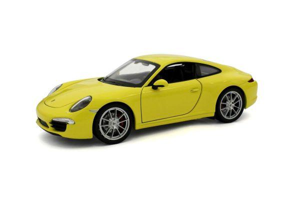 WELLY 1/24scale Porsche 911  991  Carrera S Yellow  [No.WE24040Y]