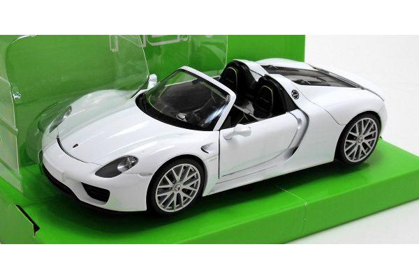 WELLY 1/24scale Porsche 918 Spyder convertible White  [No.WE24055CW]