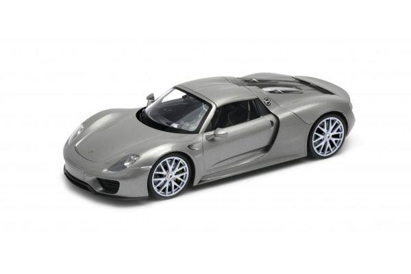 WELLY 1/24scale Porsche 918 Spyder Hardtop Silver  [No.WE24055HS]
