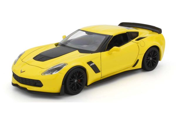WELLY 1/24 シボレーコルベット 2017 Z06 イエロー WE24085Y