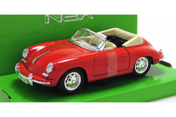 WELLY 1/24scale Porsche 356B Red [No.WE29390R]