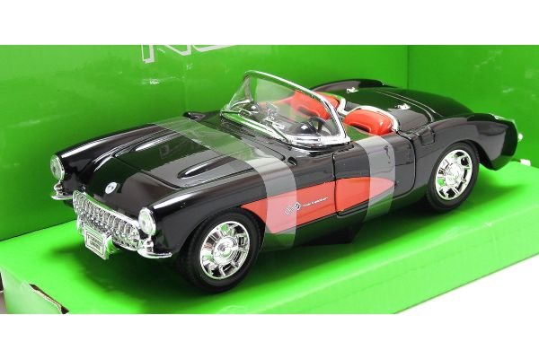WELLY 1/24scale 1957 CHEVROLET CORVETTE BLACK [No.WE29393BK]