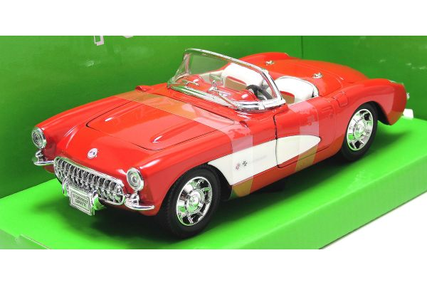 WELLY 1/24scale Chevrolet Corvette 1957 RED [No.WE29393R]